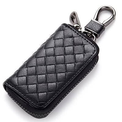 玩皮工坊-真皮牛皮編織紋腰掛鑰匙包鑰匙套-KN93