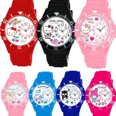 Sanrio三麗鷗偏機芯貼鑽系列運動彩帶錶40mm共12款任選