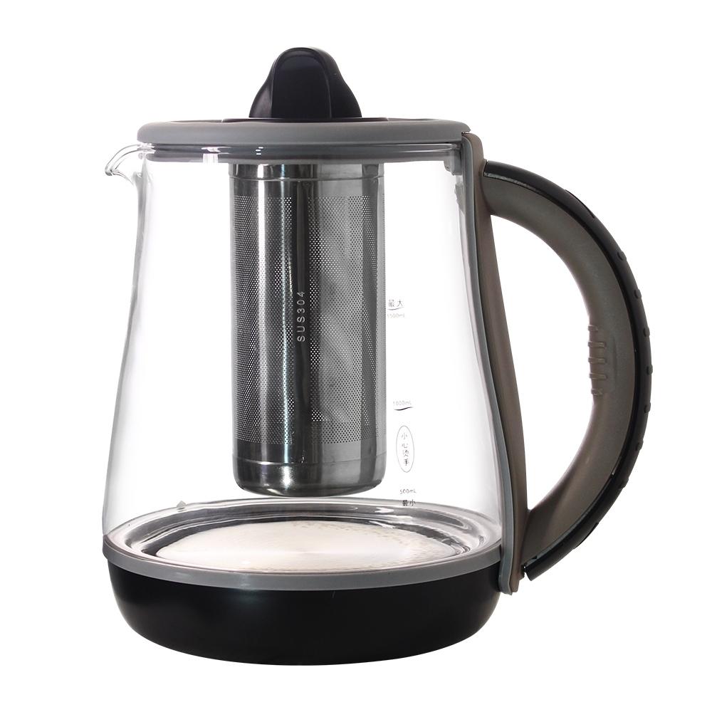 HUSKY哈適奇 智能淨水料理壺專用自動上水玻璃加熱壺1.5L
