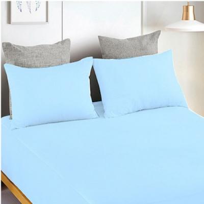 YCB護理級 100%防水防蟎抗菌床包式保潔墊 雙人加大-天空藍