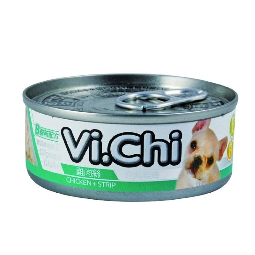 維齊Vi.Chi 《經典 機能狗罐-雞肉絲 》80g 24罐組