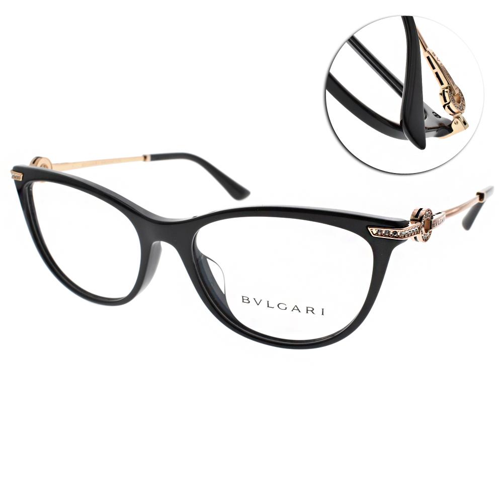 BVLGARI眼鏡 貴氣珠寶時尚/黑-金#BG4155BF 501
