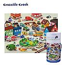 美國Crocodile Creek 大型地板桶裝學習拼圖-城市交通