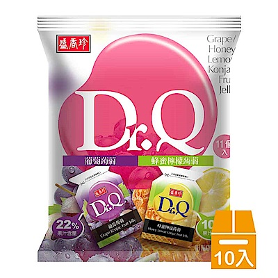 盛香珍 Dr. Q雙味蒟蒻-葡萄+蜂蜜檸檬210gx10包(箱)