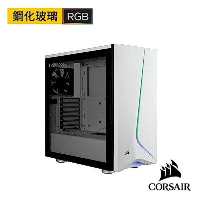 【CORSAIR海盜船】Carbide SPEC-06 RGB 鋼化玻璃中塔式機殼-白