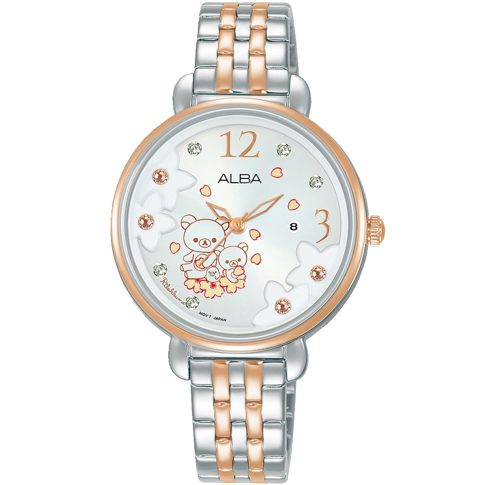 ALBA雅柏 X Rilakkuma拉拉熊聯名腕錶(VJ22-X327KS/AH7X96X1)-32mm