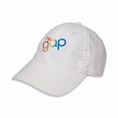 GAP 經典LOGO可調式鴨舌帽-白色
