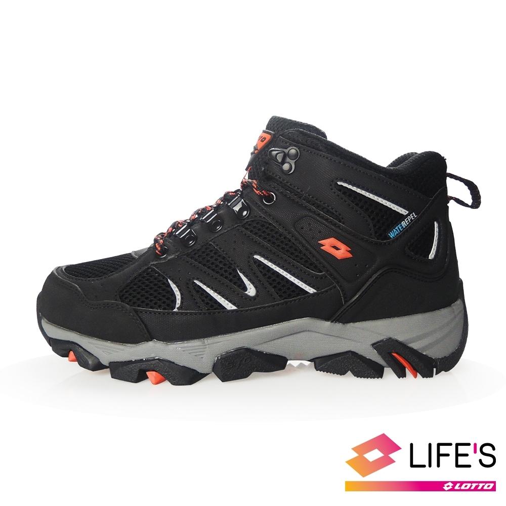 LOTTO 義大利 男 Sabre Mid 3 戶外登山鞋 (黑 )