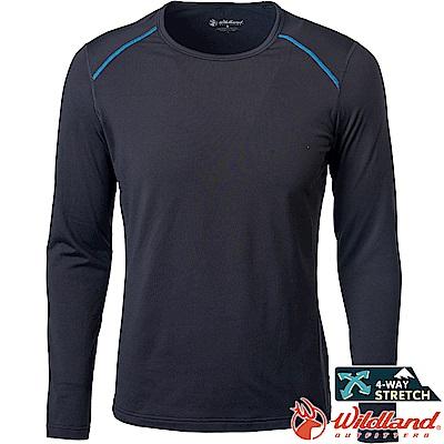Wildland 荒野 0A62668-54黑色 男輕量鍺纖維親膚保暖衣