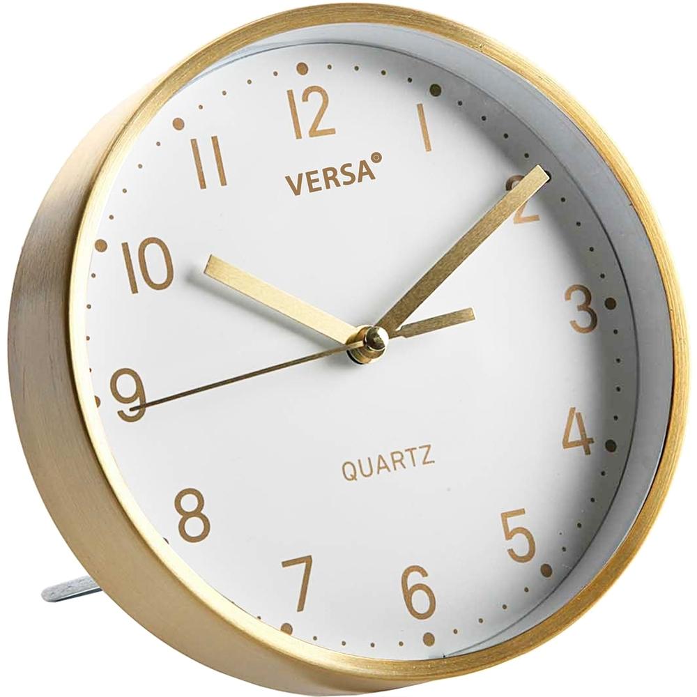《VERSA》桌面時鐘(白金16cm)
