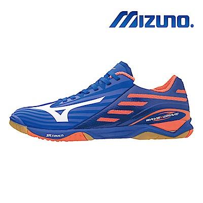 美津濃 WAVE DRIVE Z2 男桌球鞋 藍橘 81GA160000