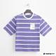 Hang-Ten-青少童裝-條紋塗鴉設計T恤-紫 product thumbnail 1