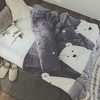 絲薇諾 MIT法蘭絨暖暖被-北極熊-145×195cm