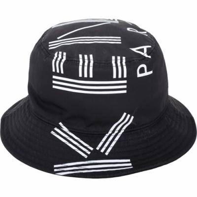 KENZO 品牌幾何LOGO尼龍漁夫帽(黑色)