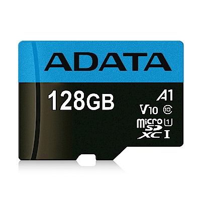 威剛 Premier microSDHC UHS-I (A1) 128G記憶卡(附轉卡)