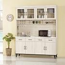 Bernice-奧莉芙5.3尺仿石面收納餐櫃/碗盤櫃(全組)-160x43x202cm
