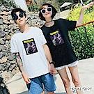 Monkey Shop 男女情侶韓版趣味太空喵星人短袖T恤-2色