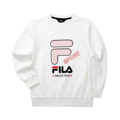 FILA KIDS 童長袖T恤-米白 1TET-8903-IV