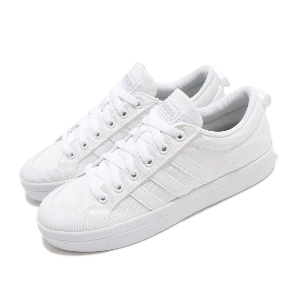 adidas 休閒鞋 Bravada 滑板鞋 女鞋 愛迪達 基本款 三線 帆布鞋 上學 白 灰 FV8099