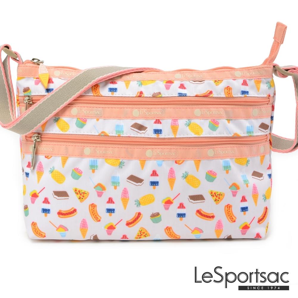 LeSportsac - Standard 橫式三層拉鍊斜背包(夏季點心)