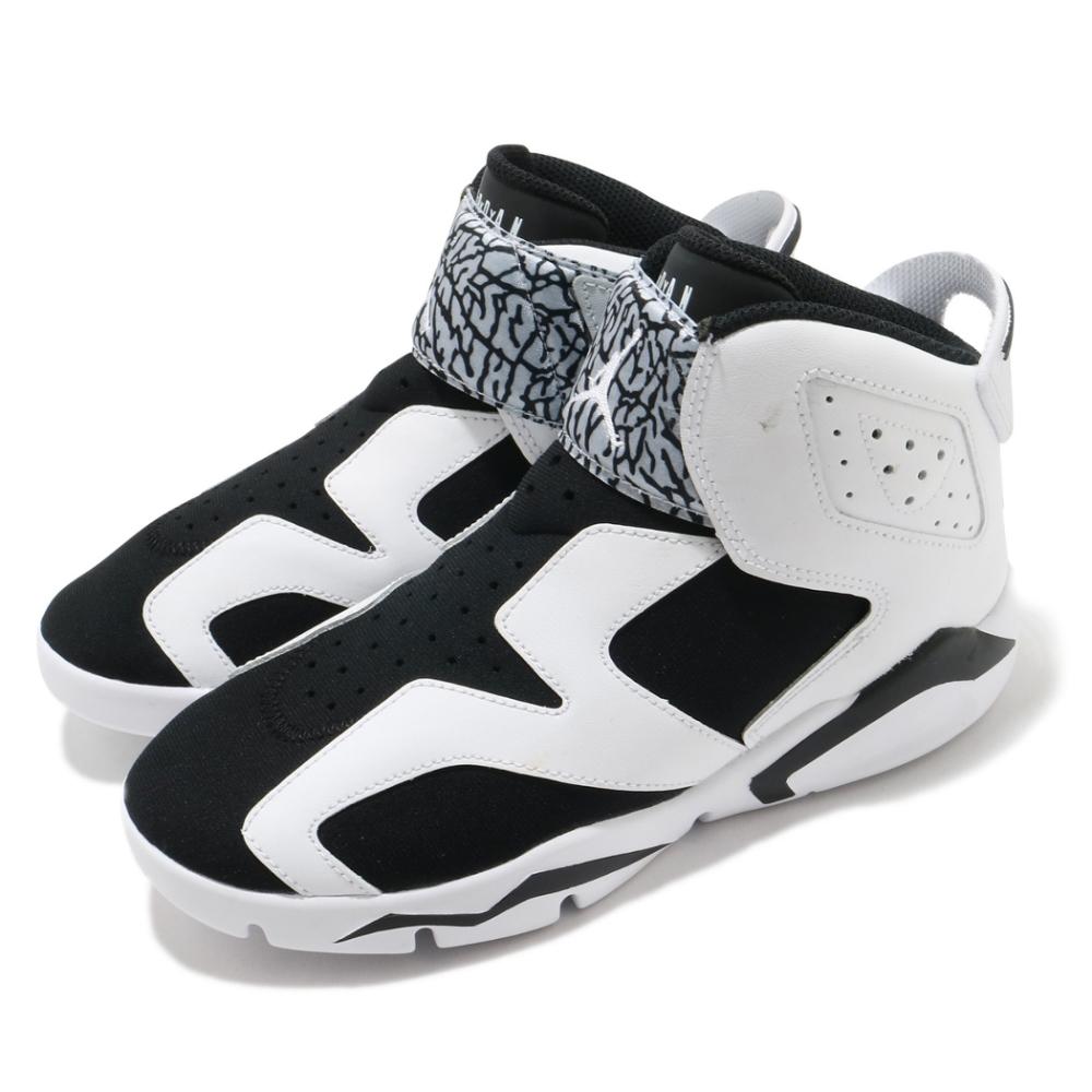 Nike 籃球鞋 Jordan 6 Retro 運動 童鞋 經典款 喬丹 避震 包覆 中童 穿搭 白 黑 CT4416100
