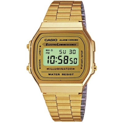 CASIO卡西歐 復古金色電子錶(A168WG)