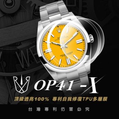 RX8-X 勞力士ROLEX Oyster Perpetual 41 124300 鏡面、外圈 系列腕錶、手錶貼膜
