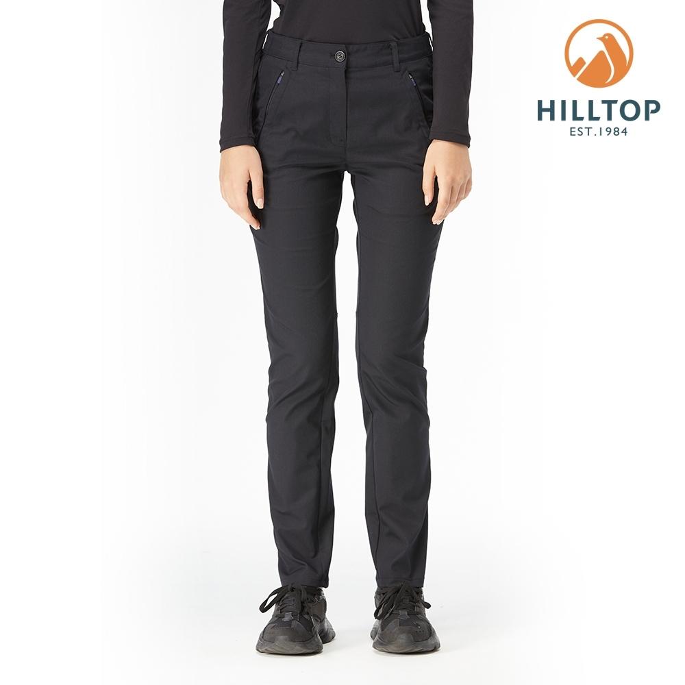 【hilltop山頂鳥】女款彈性保暖長褲H31FM5黑美人