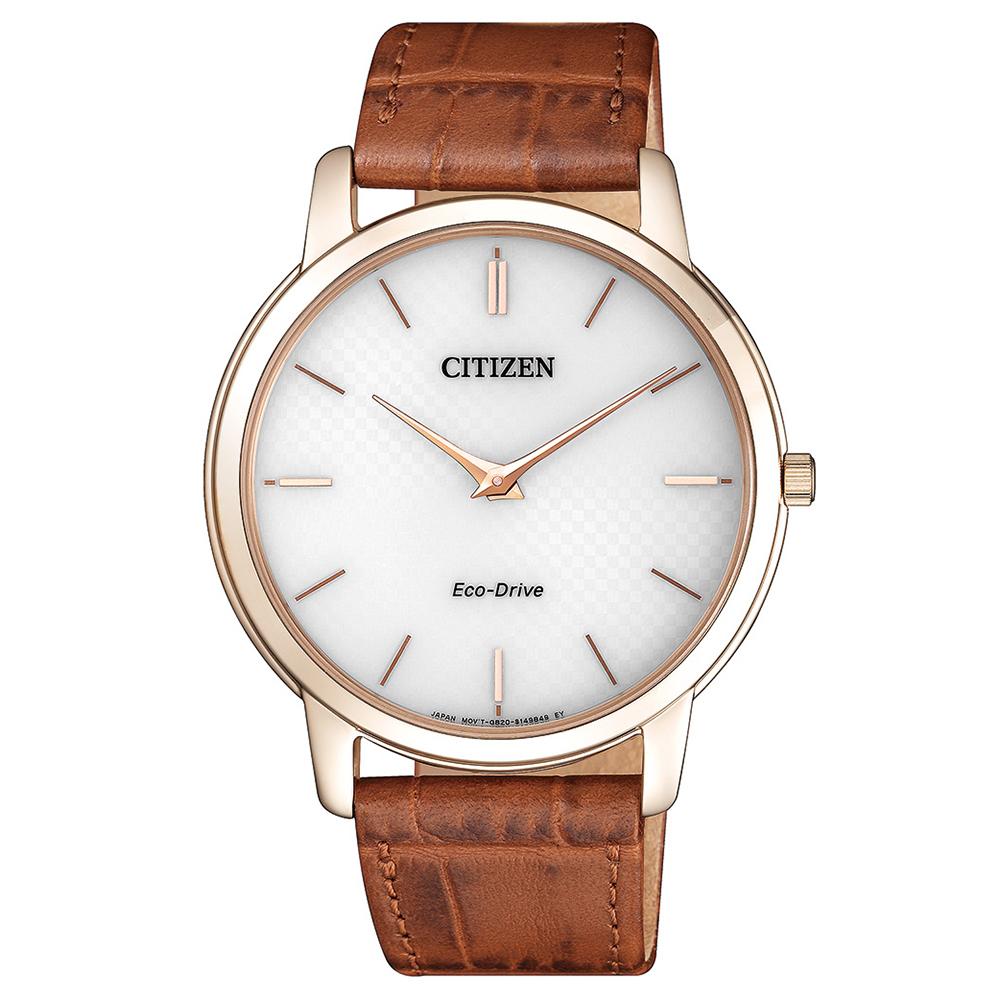 CITIZEN  經典不凡藍寶石光動能石英腕錶(AR1133-15A)-白/39mm