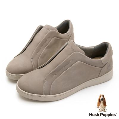 Hush Puppies 經典款真皮休閒女鞋-卡其色
