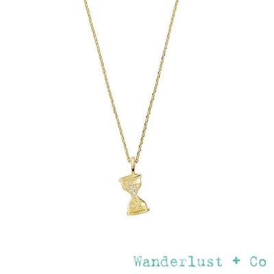 Wanderlust+Co 永恆沙漏鍍14K金鋯石項鍊