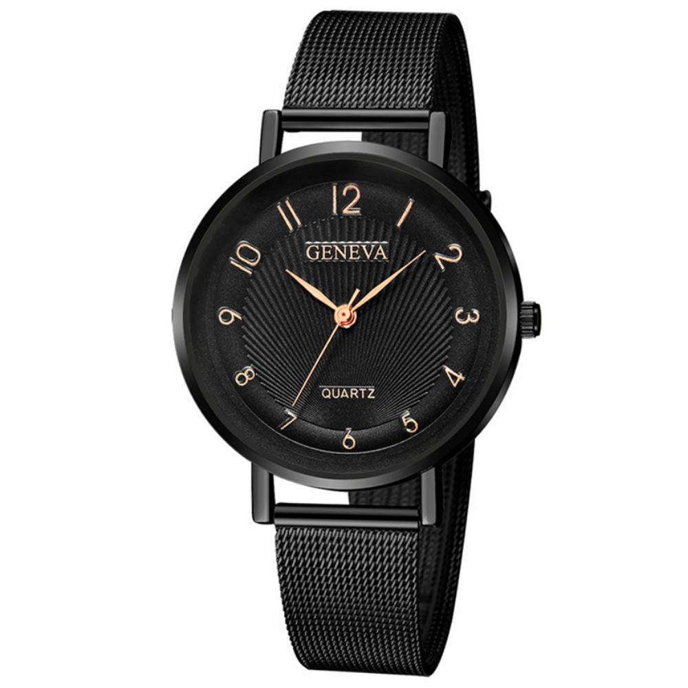 Geneva 日內瓦-美式優雅變化數字時標女錶 (5色任選) product image 1