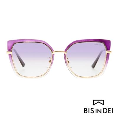 BIS IN DEI 不低調個性方框太陽眼鏡-亮紫