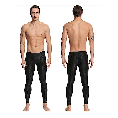 Biki比基尼妮泳衣   鯊魚男泳褲長褲有加大浮潛褲(黑M-3XL)
