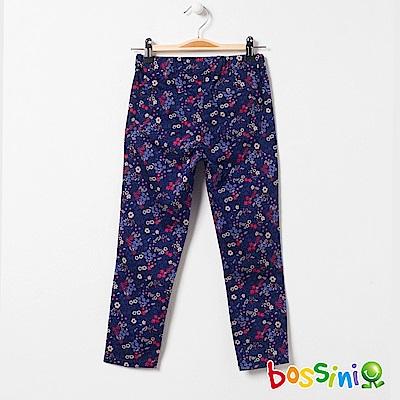bossini女童-輕鬆窄管長褲02海軍藍