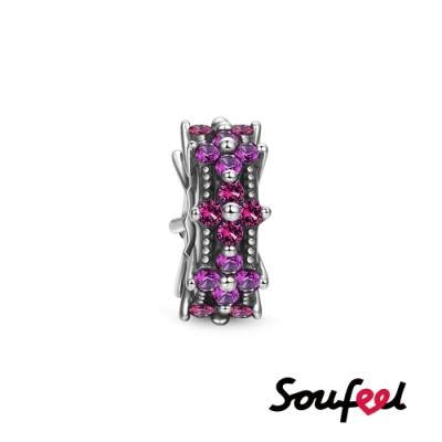 SOUFEEL索菲爾 925純銀珠飾  鮮花朵朵 定位珠