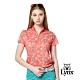 【Lynx Golf】女款吸濕排汗滿版花卉印花造型燙鑽設計短袖立領POLO衫-橘色 product thumbnail 2