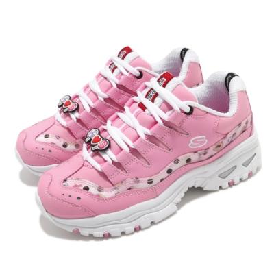 Skechers 休閒鞋 Energy LINE FRIENDS 女鞋 老爹鞋 厚底 增高 熊美 皮革 穿搭 修飾 粉白 13424LTPK