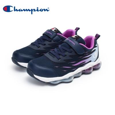 【Champion】FLAME 氣墊運動鞋 大童鞋-藍/紫(KFUS-0377-69)