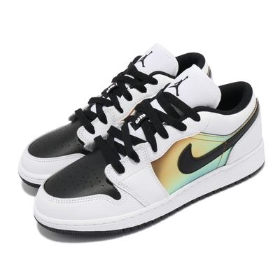 Nike 休閒鞋 Air Jordan 1 Low SE 女鞋 經典款 喬丹一代 皮革 簡約 穿搭 白 黑 金 CV9844109