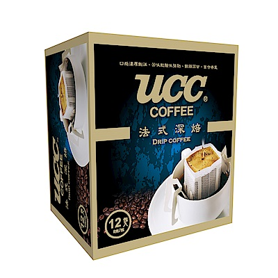 UCC 法式深焙濾掛式咖啡12入x9盒組