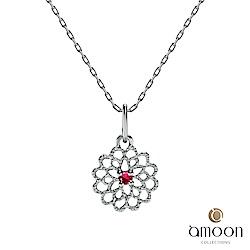 amoon 璀璨彩寶系列 迷戀 10K金紅寶石項鍊