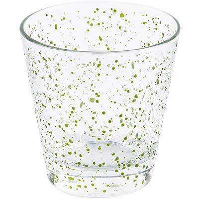 EXCELSA廣口玻璃杯綠點250ml
