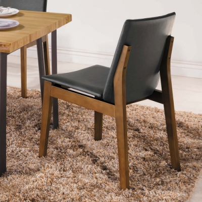 H&D 尼斯淺胡桃灰皮餐椅