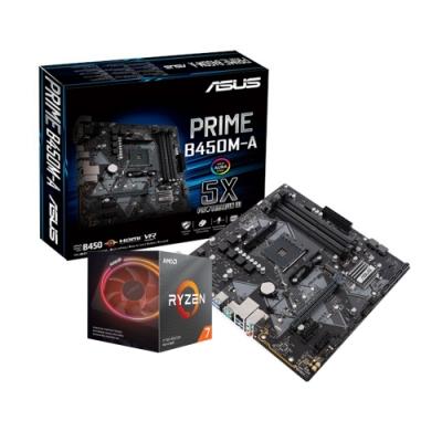 ASUS華碩 PRIME B450M-A + AMD R7 3700X組合套餐