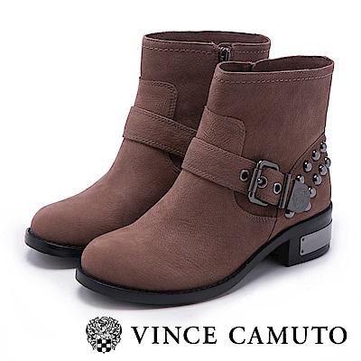 VINCE CAMUTO 搖滾金屬鉚釘中筒靴-粉色