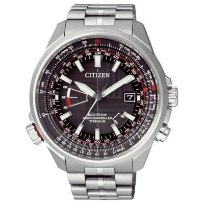 CITIZEN Eco-Drive 浮華爵士鈦金屬光動能腕錶-銀-CB0141-55E-49mm