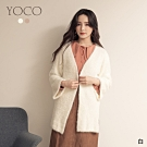 東京著衣-YOCO 百搭慵懶風輕毛絨長版外套(共二色)