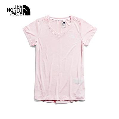 The North Face北面女款粉色透氣T恤|3RLC9FZ