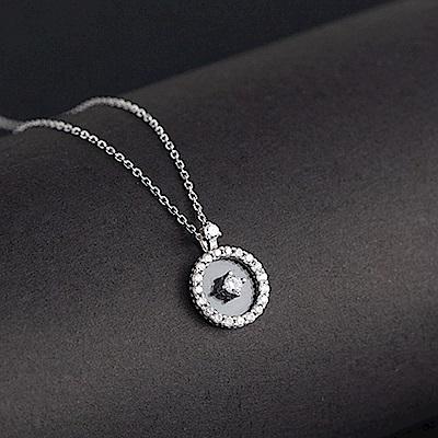 梨花HaNA   韓國925銀金秘書為何那樣懸浮鑽石鎖骨鍊